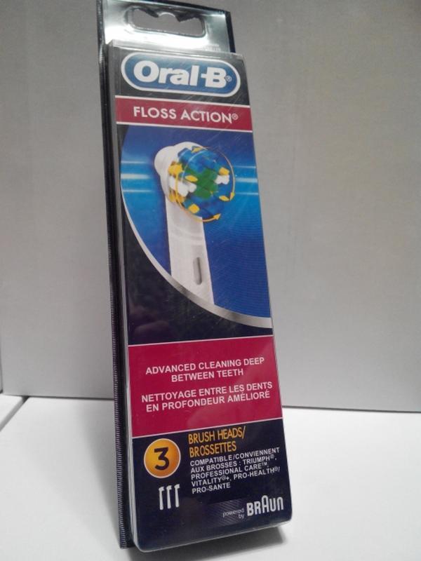 Braun Oral-b Floss Action 3 шт насадки на Зубные электро щетки - Фото 3