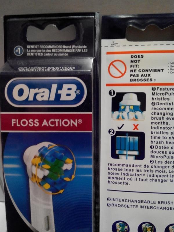 Braun Oral-b Floss Action 3 шт насадки на Зубные электро щетки - Фото 4