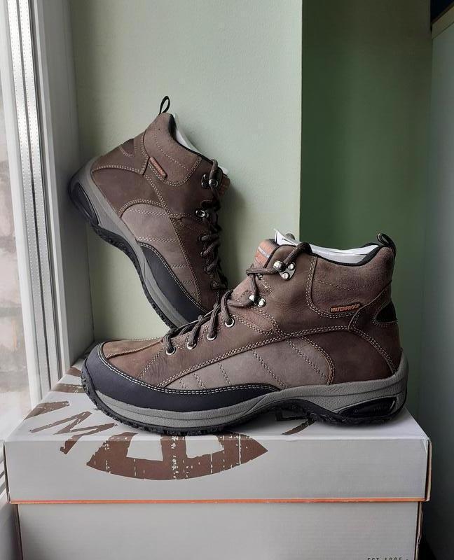 Dunham от new balance ● 43,5-45 ● водонепроницаемые кожаные бо...
