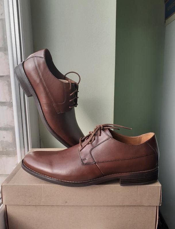 Clarks becken plain ● р44-45 ● кожаные туфли. оригинал из сша.