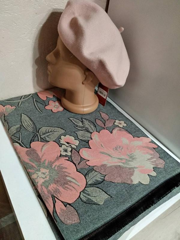 Комплект чешский фетровый берет tonak и зимний теплый шарф пал...