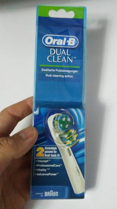 Braun Oral-B Dual Clean 2 шт насадки на Зубные электро щетки - Фото 2