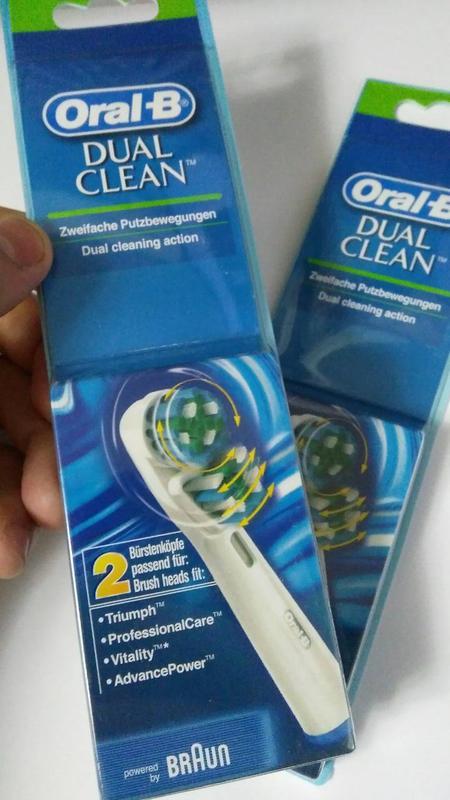 Braun Oral-B Dual Clean 2 шт насадки на Зубные электро щетки - Фото 3