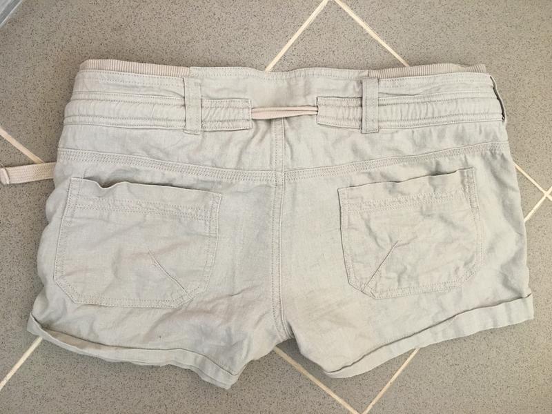 Коротенькие шортики new look телесного цвета размер см - Фото 4