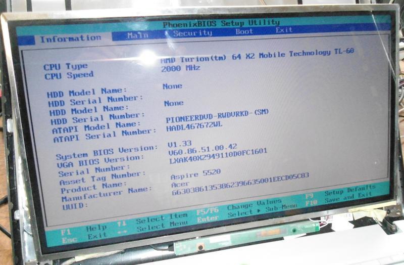 Матрица LTN160AT01 16.0 CCFL 30pin глянцевая