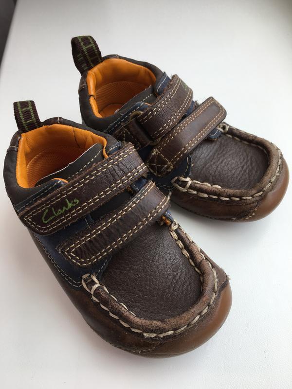 Кожаные туфли/мокасины clarks для первых шагов стелька 12см