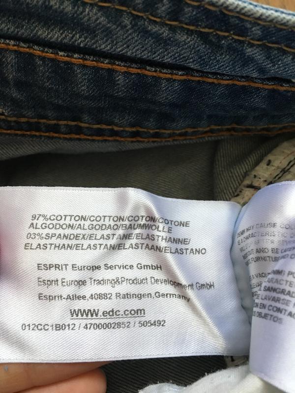 Стильные джинсы esprit размер 27-28 - Фото 3