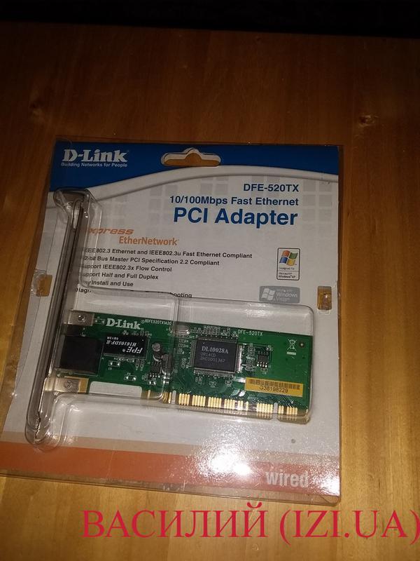 Сетевая карта D-Link DFE-520TX для ПК (слот PCI) в идеале