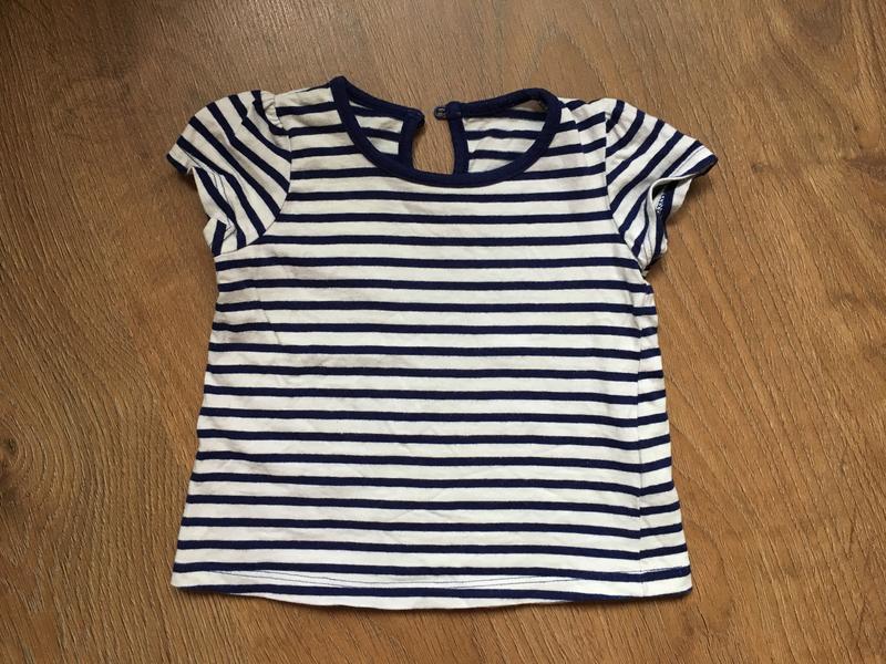 Темно-синяя футболочка matalan на 9-12 месяцев