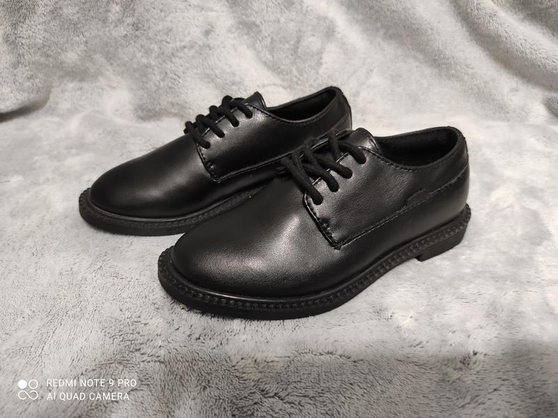 Нові чорні дитячі туфлі бренду zara boys 27,33,34,35,37 та 38 р.
