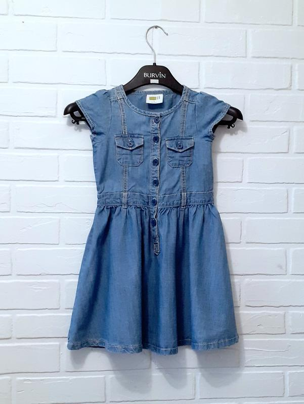 Джинсовое платье для девочки 4-5 лет