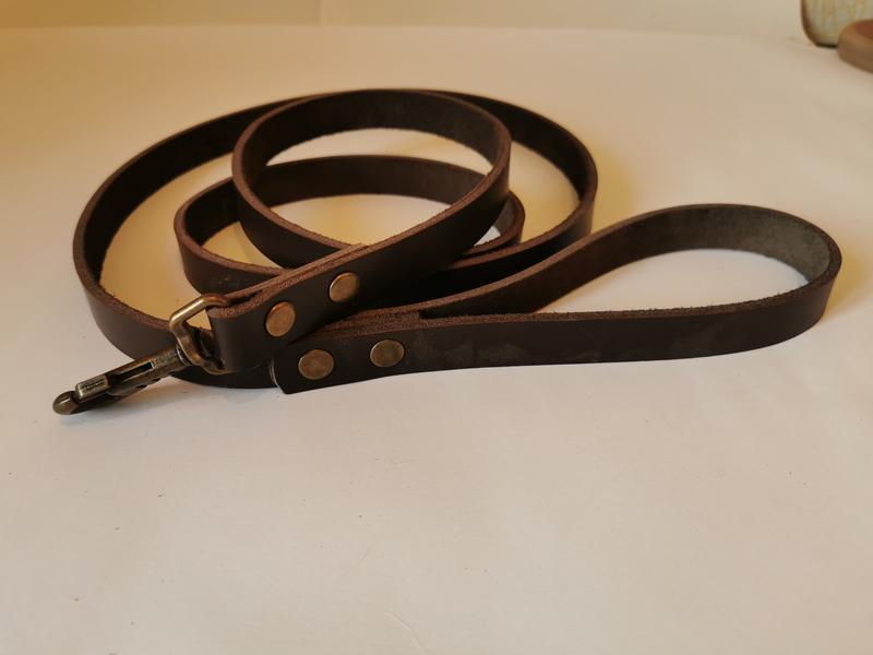 Кожаный поводок для собак  JACK&JACK  1.90 м -20 мм - Фото 6