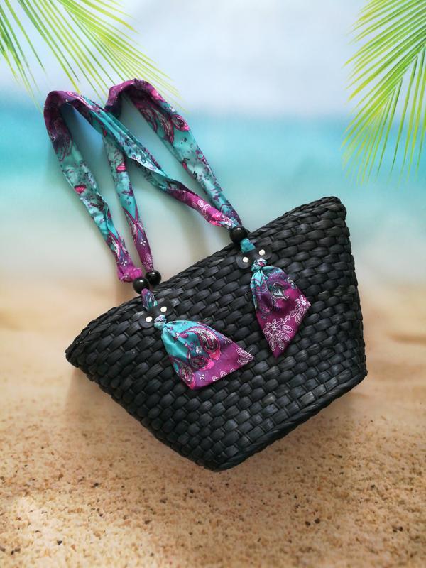 Красивая модная соломенная сумка, плетеная сумка