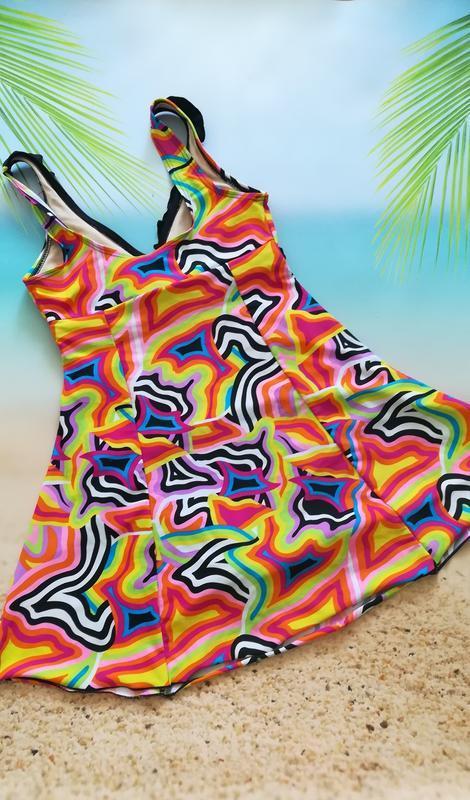 Купальник-платье, купальное платье high club - Фото 4