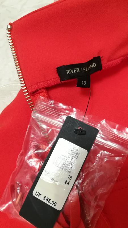 Шикарное красное открытое платье - Фото 5