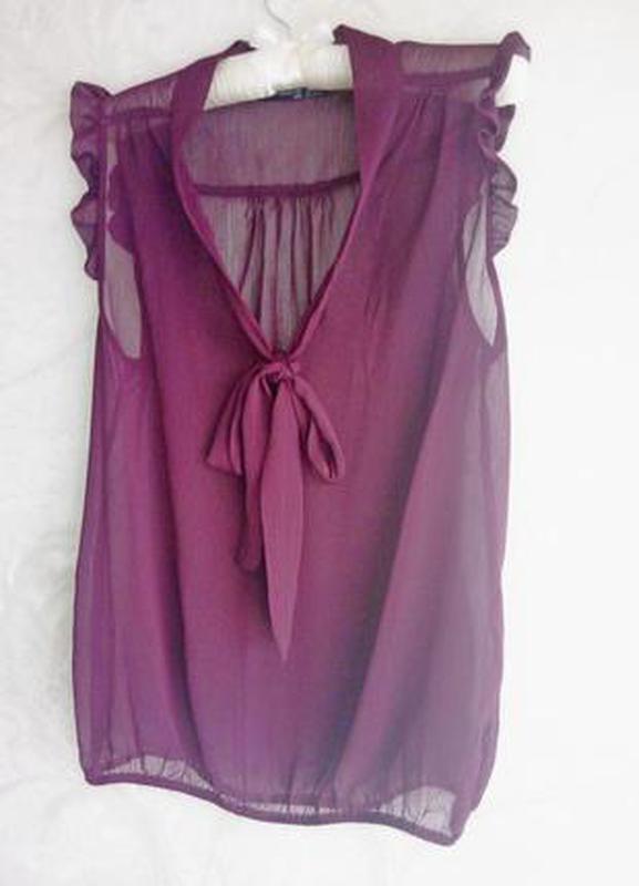 Легкая блуза, цвет марсала