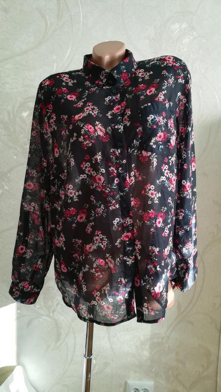 Блуза, цветочный принт