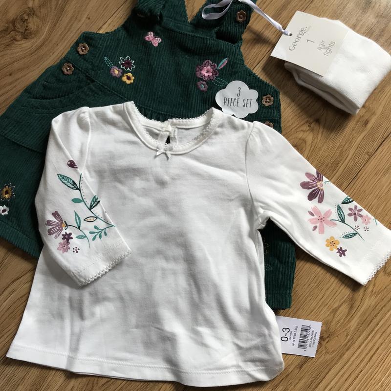 Шикарный комплект платье+кофта+колготки на выписку или праздник - Фото 2