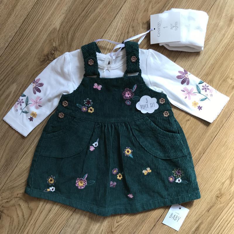 Шикарный комплект платье+кофта+колготки на выписку или праздник - Фото 3
