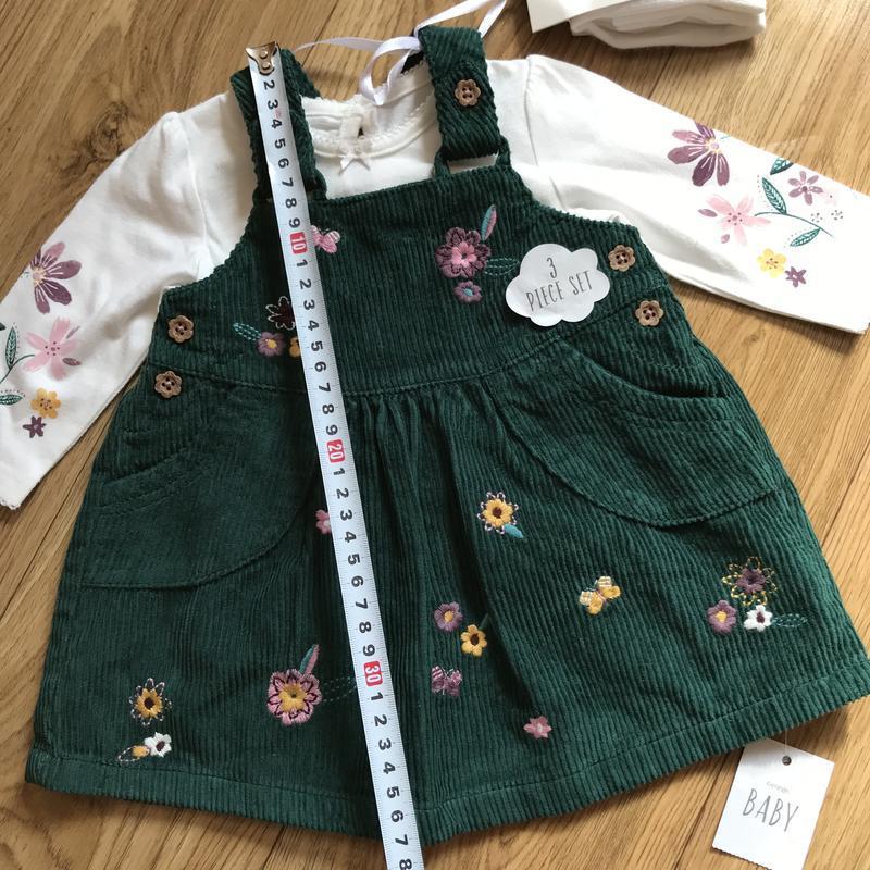 Шикарный комплект платье+кофта+колготки на выписку или праздник - Фото 7