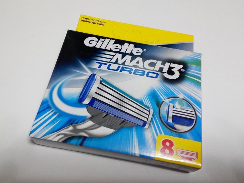 Mach 3 Turbo Gillette 8шт/1уп Лезвия