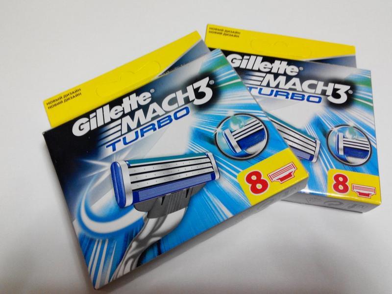 Mach 3 Turbo Gillette 8шт/1уп Лезвия - Фото 4