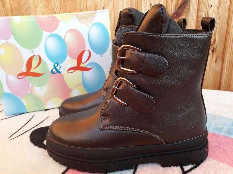 Теплые зимние сапоги ботинки Lilin -натур.мех,р.28-33
