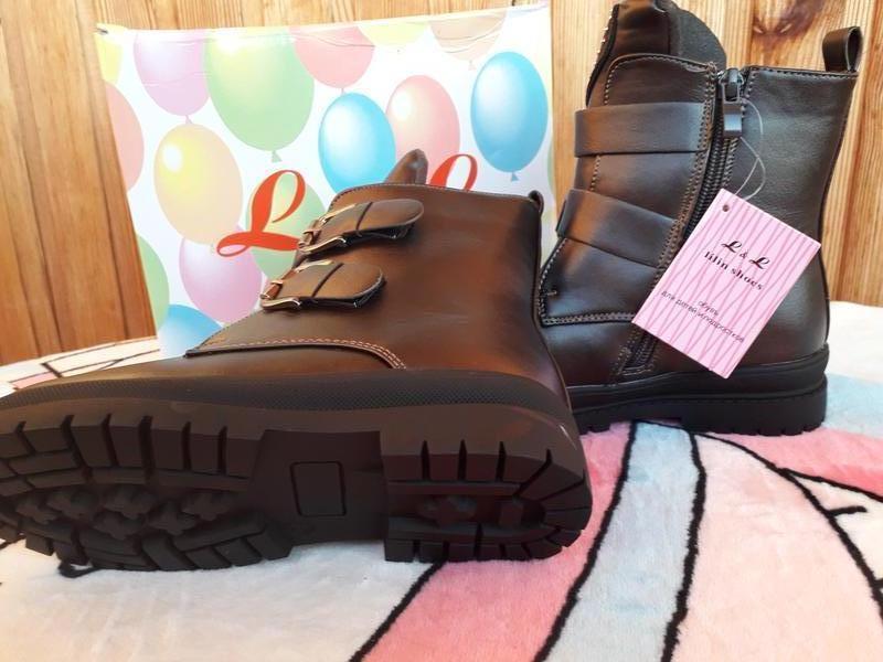 Теплые зимние сапоги ботинки Lilin -натур.мех,р.28-33 - Фото 4