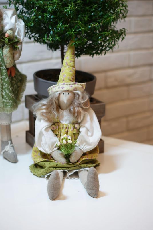 Интерьерные куклы тильды Фрося и Шурочка, интерьерная игрушка - Фото 3