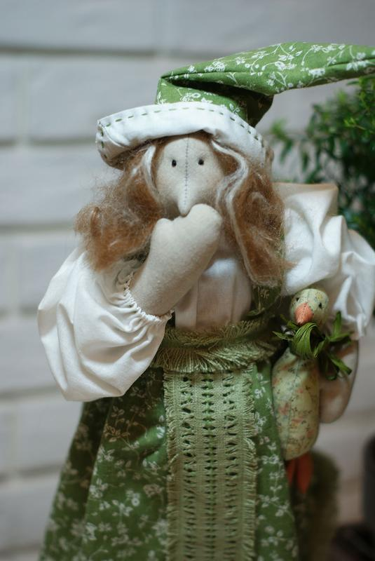 Интерьерные куклы тильды Фрося и Шурочка, интерьерная игрушка - Фото 2