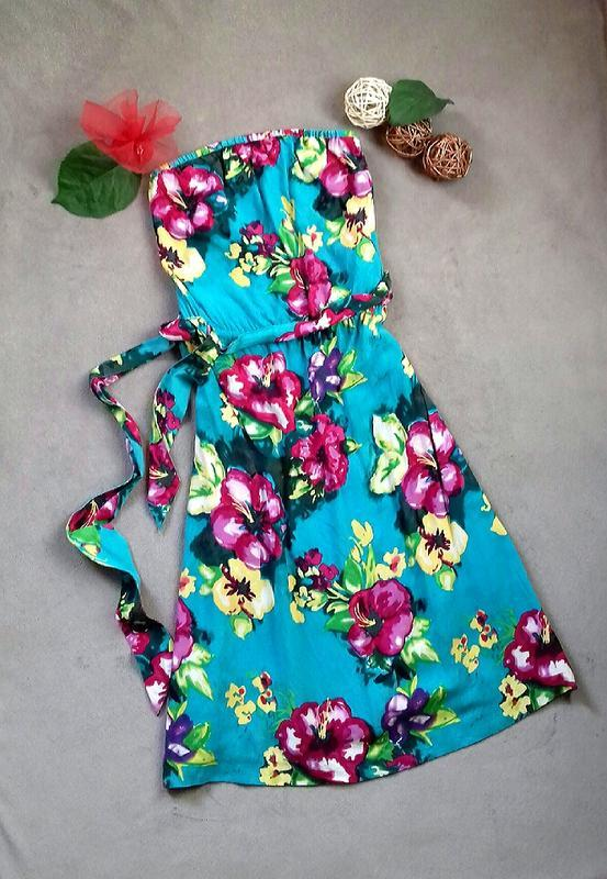 H&m нежное воздушное платье сарафан вискоза
