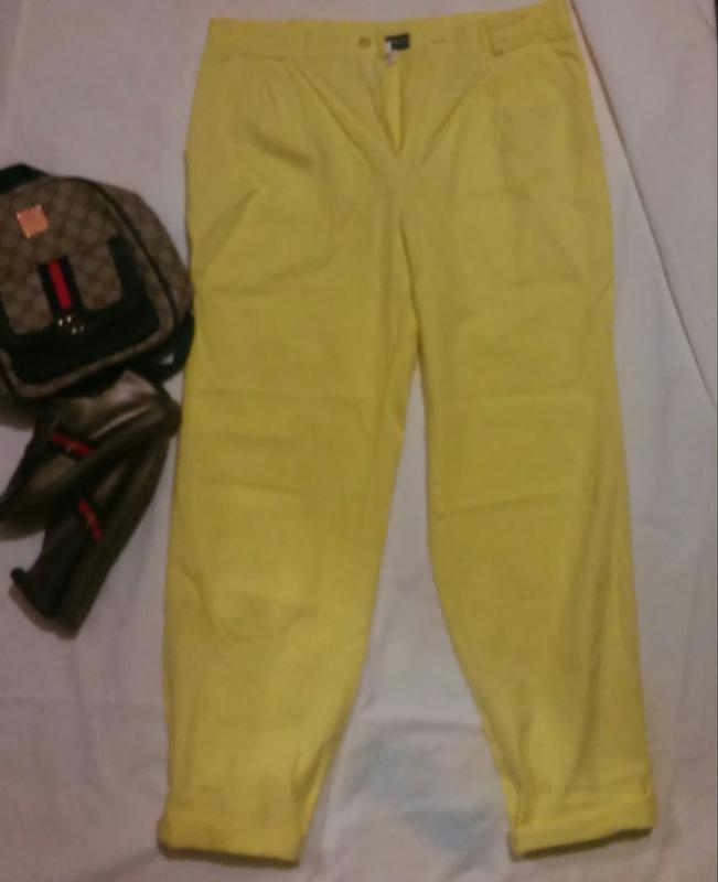 Классные штаны лимонного цвета