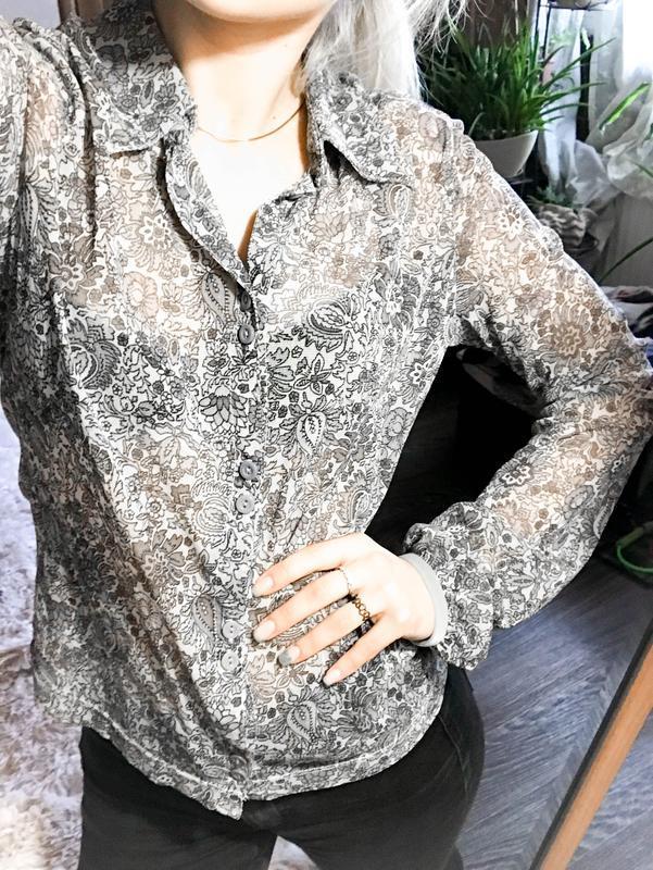 Прозрачная прекрасная брендовая рубашка-блуза