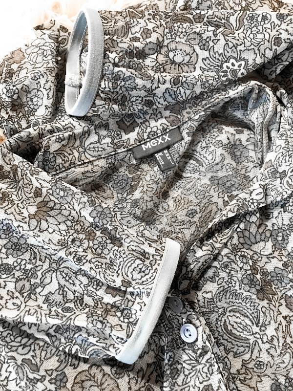 Прозрачная прекрасная брендовая рубашка-блуза - Фото 2