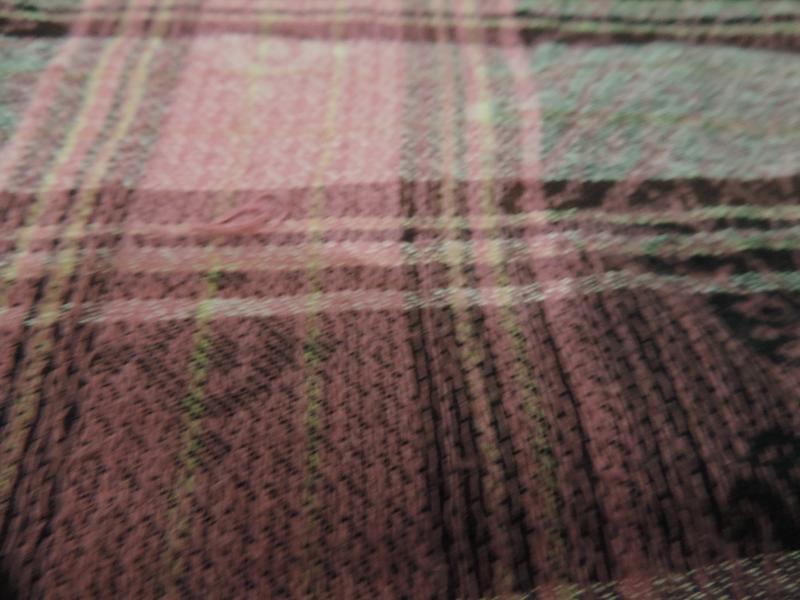 Стильный шарф палантин в клетку - Фото 6