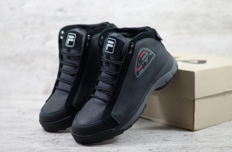 Натуральная кожа мужские зимние кожаные ботинки с оригинальной...