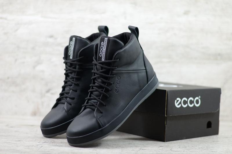 Натуральная кожа мужские кожаные зимние ботинки высокие кеды н...