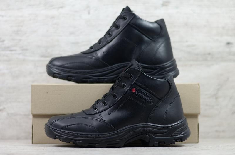 Натуральная кожа мужские зимние кожаные ботинки в спортивном с... - Фото 2