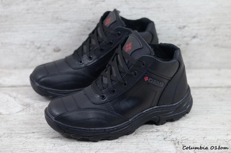 Натуральная кожа мужские зимние кожаные ботинки в спортивном с... - Фото 3
