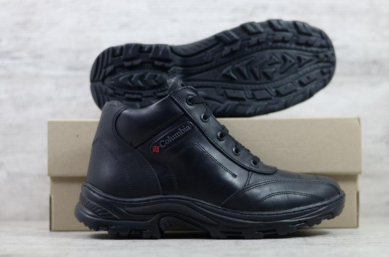 Натуральная кожа мужские зимние кожаные ботинки в спортивном с... - Фото 4