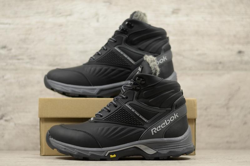 Натуральная кожа мужские зимние кожаные ботинки в спортивном с... - Фото 5