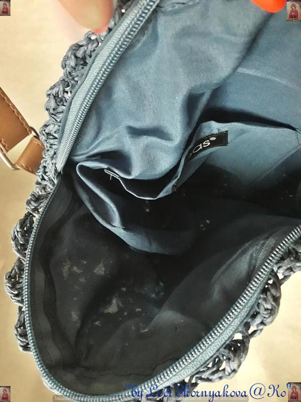 Новая плетенная соломенная лёгкая круглая нежная летняя сумка ... - Фото 7