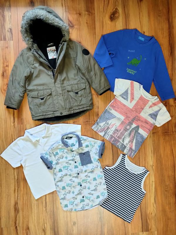 Пакет одежды на мальчика 6-7 лет одним лотом куртка флиска фут...