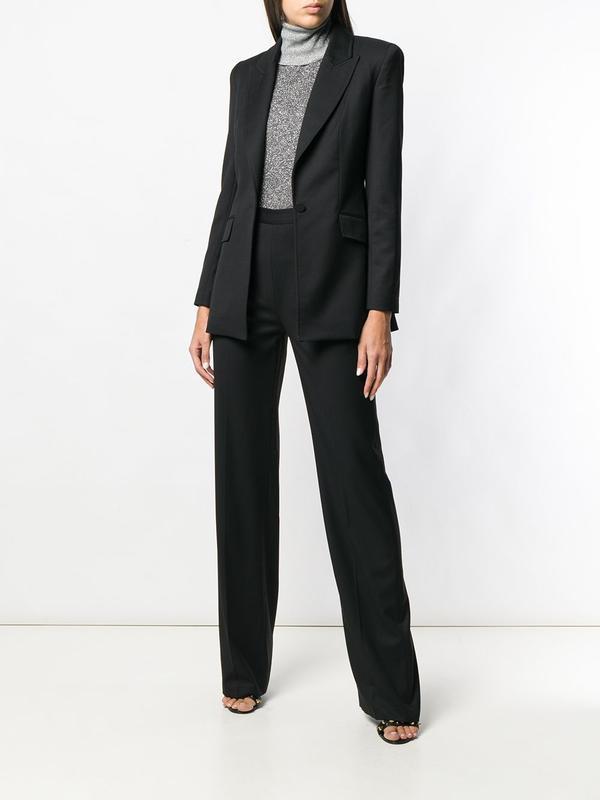 Классические черные прямые брюки со стрелками spring fashion (...