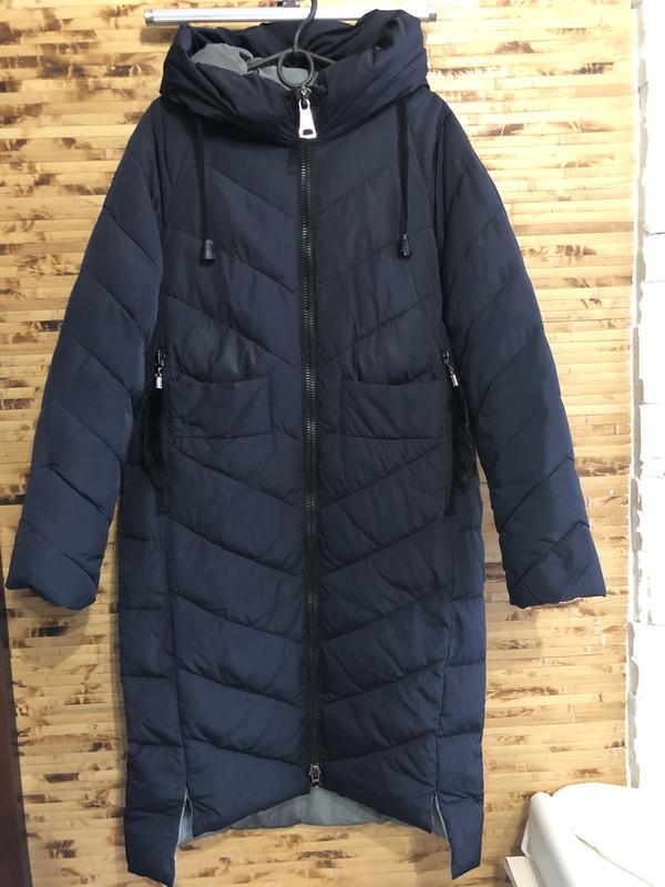 Зимняя куртка парка пальто парка синего цвета