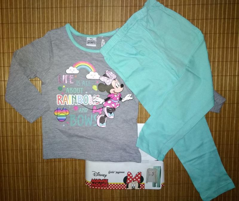 Пижама хлопковая disney minnie mouse 92-98 и 116-122