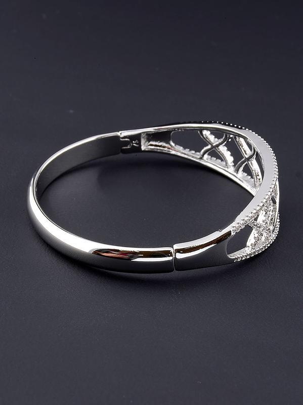 Шикарный браслет 'xuping' фианит 17 см. (родий). - Фото 2
