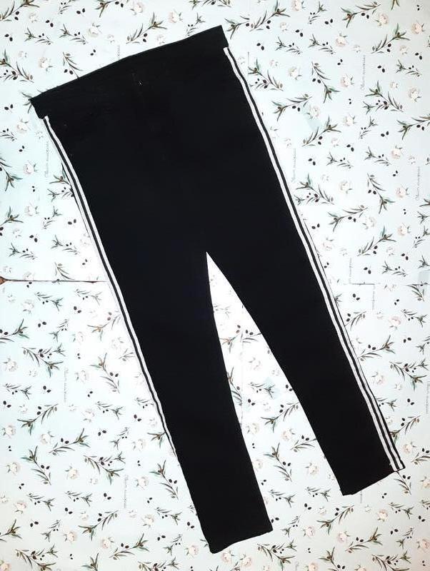 Ультрамодные узкие зауженные черные джинсы с лампасами, размер...