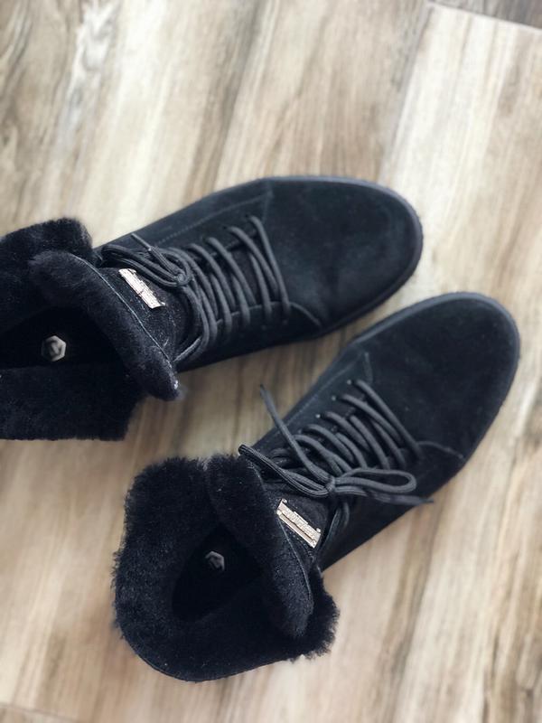 Замшевые ботинки мужские зимние Philipp Plein - Фото 3