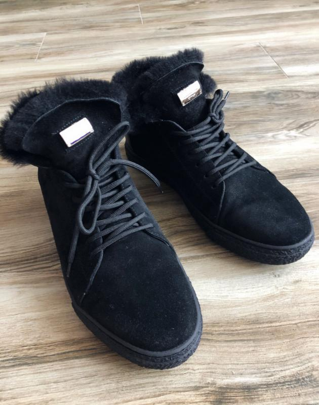 Замшевые ботинки мужские зимние Philipp Plein - Фото 2
